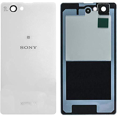 Original Akkudeckel für Sony Xperia Z1 COMPACT D5503 Akkudeckel Gehäuse Cover weiß/Dichtung/Klebefolie mit Werkzeug