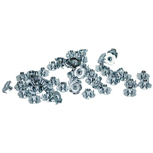TCH Hardware 100 Pack Steel 4 Prong T Nuts 10-32 x 5/16