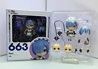 PampasSK Action & Toy Figures - Anime Re : Life in a Different World from Zero Nendoroid 663 Blue Rem & 732 Red Ram Kawaii Cute Action Figure Toys 10cm 1 PCs