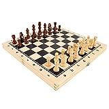 Ajedrez Juego Conjunto de ajedrez cuadrado de alto grado, piezas de ajedrez plegable para ajedrez del tablero magnético adecuado para principiantes y niños Ajedrez de Rompecabezas ( tamaño : Small )