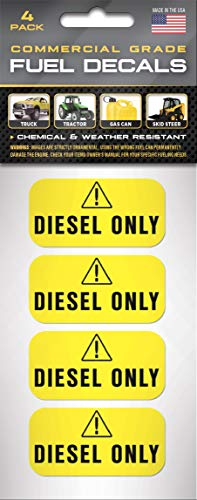 """""""Diesel Only"""" Yellow Stickers 
