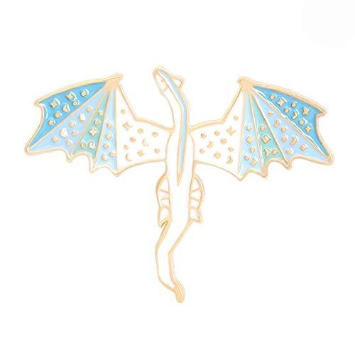 wangk Nuevo Personaje de Dibujos Animados dragón Broche Pintura Accesorios Insignia H01