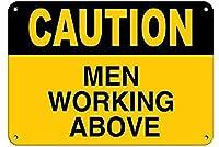 注意壁の上で働く男性金属ポスターレトロプラーク警告ブリキのサインヴィンテージ鉄の絵画の装飾オフィスの寝室のリビングルームクラブのための面白い吊り工芸品