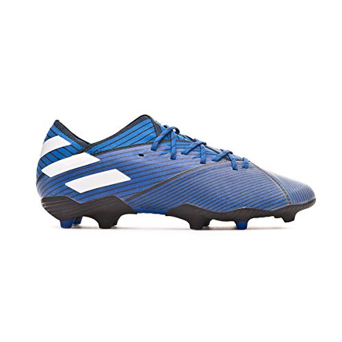 adidas Nemeziz 19.1 FG Niño, Bota de fútbol, Football Blue-White-Core Black