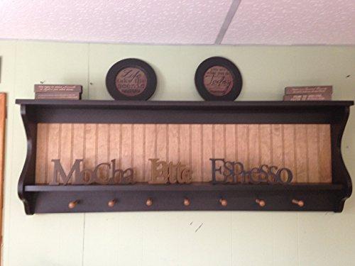 Primitive Plate Rack Wall Shelf Country Wood Display Plate and Bowl Rack Shaker Shelf