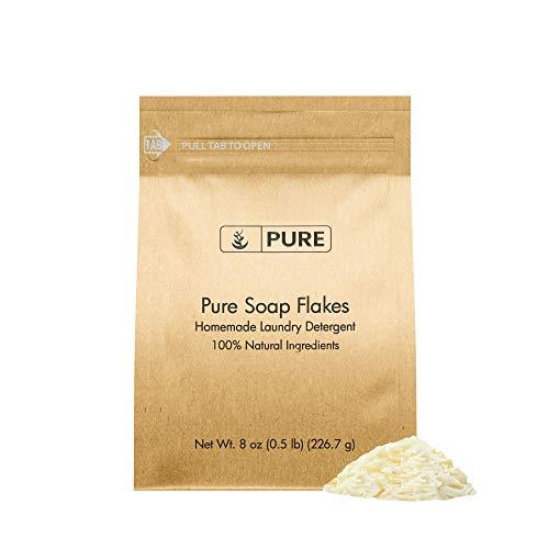 Soap Granule Flakes (8 oz) Plant Based, Homemade Laundry Detergent