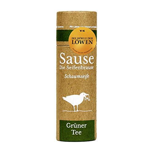 Die Seifenbrause Schaumseife Grüner Tee Nachfüllpack für Schaumseifenspender, 10 Tabletten für 1000 ml, plastikfrei, palmölfrei