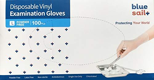 Einmalhandschuhe Vinyl Weiss puderfrei, Größe L, 100-er Pack