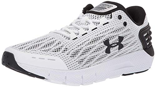 Under Armour Men's Charged Rogue Running Shoe, White (104)/Black, 7