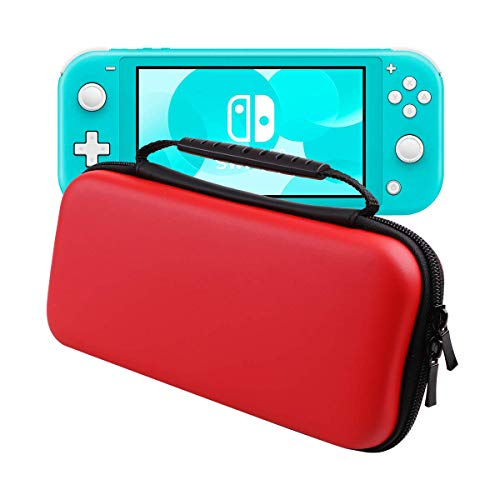 Nintendo Switch Lite Travel Carrying Case by HAO HONG| Holds 8 Video Game Cards, 2 Joy-Con Controllers | Water, Scratch, Dust and Shock Proof Protective Storage(Red)