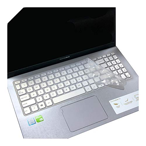 Cubierta de teclado de 15.6 pulgadas para Asus VivoBook 15 X512FL X512UF X512UA X512FA X512da X512UB F512 F512U F512DA X512 Y5000U-Clear-