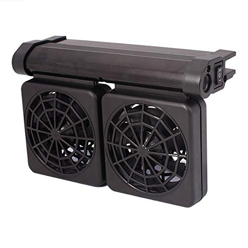 AOSEE Enfriador de pecera,Mini Ventilador Ajustable para pecera de Tres Cabezas,Enfriador de Aire frío,Ventilador de refrigeración de Acuario para Agua Dulce y Salada (2 Ventilador)