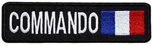 topt mili Commando ecusson France Francais Drapeau Plongeur 12x3,5cm Marines thermocollant
