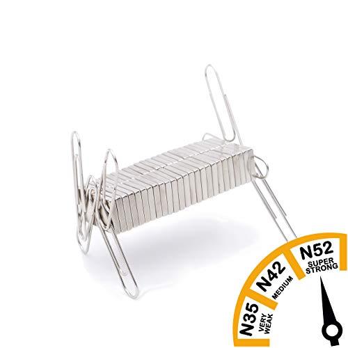 Brudazon | 50 design vierkante magneten 10x2 mm | N52 dikke stand – neodymium magneten ultrasterk | Power magneet voor modelbouw, whiteboard, prikbord, koelkast, knutselen | blokmagneet