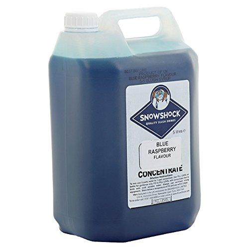 Snow Shock Blue Frambuesa Sabor 5 litros (Pack de 4 x 5 L)