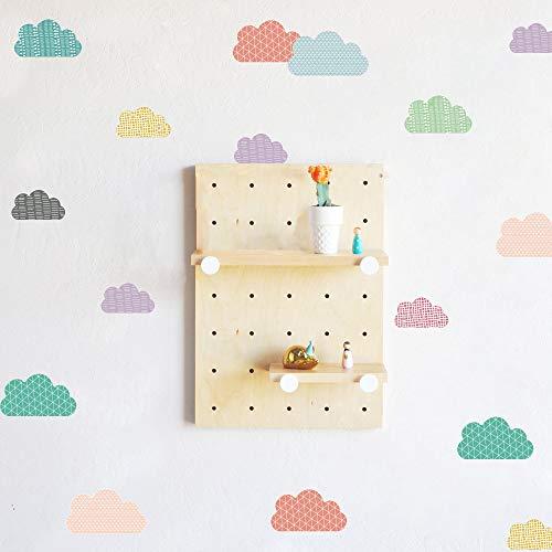 DIY pegatinas de pared de dibujos animados nubes multicolor habitación de niños dormitorio guardería decoración del hogar pegatina