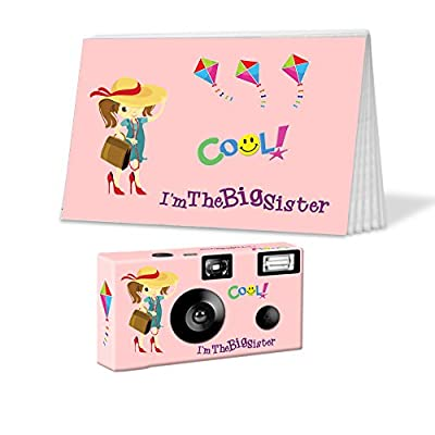 I'm The Big Sister Camera and Photo Album Set in Pink, Customize with Hair and Complexion Colors. Personalize with Child's Name. Big Sister Gift from CustomCameraCollection PK510 by CustomCameraCollection