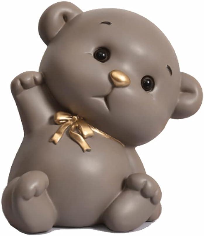 ZSM Money Bank Over item handling Kids Piggy Yellow Bear Resin Super sale period limited Cute