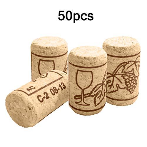 ZJW 50 Piezas corchos de Vino corchos de Botella - corchos artesanales - corchos para Vino o decoración, Creatividad, Bricolaje y artesanías