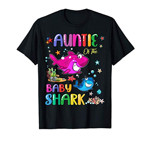 Auntie of The Baby Shark Birthday Auntie Shark T-Sh