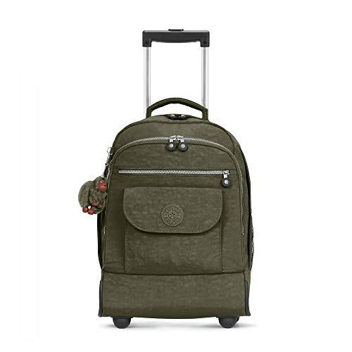 Kipling unisex-adults Sanaa Large Jaded Green Wheeled Backpack, JADEDGREEN, One Size