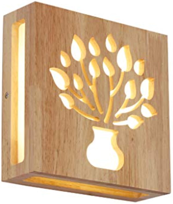 Kreative Massivholz Deckenleuchte LED einfache moderne Schlafzimmer Wohnzimmer Dekoration Lichter Nordic Holz Lampe japanische Wandleuchte