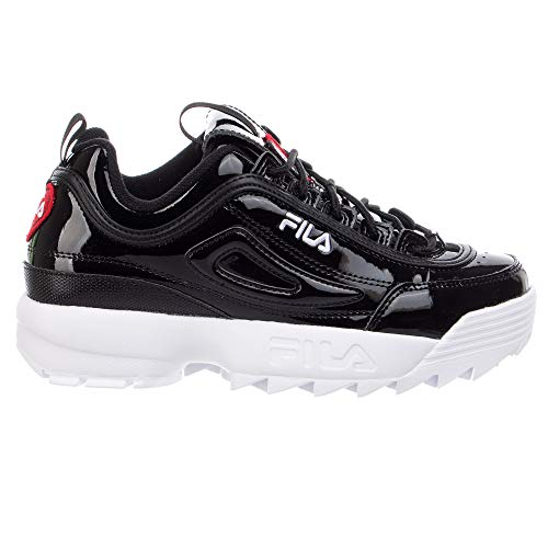 Fila Women's Disruptor II Heart Premium Sneaker (Black/White, Numeric_7_Point_5)