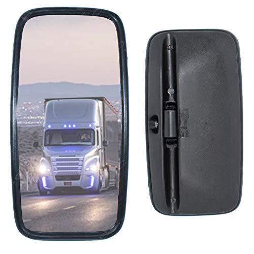 1 miroir universel pour camion, camion, camion, camion ou bus 42 x 20 cm avec support flexible