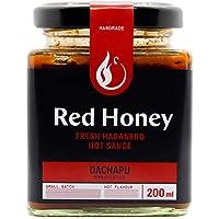 Red Honey Salsa de Chile - Sabores Picantes, Dulces y Afrutados Miel, Tomate, Mezcla de Habanero - Saludable, Sin Azúcar Granulada, Ingredientes Frescos - Aperitivo, Carne, Pollo, Condimentos - 200ml