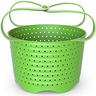Avokado Silicone Steamer Basket Compatible with 6qt Instant Pot and Ninja Foodi - Perfect Pressure Cooker Accessory Protects your Non-Scratch IP Inserts - Rust and Dent Free (6 Qt, Green)