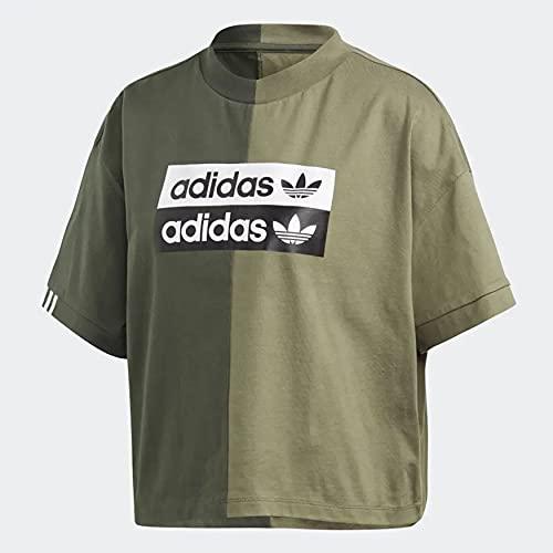 adidas Tee, T-Shirt Donna, Shadow Green/Legacy Green, 46