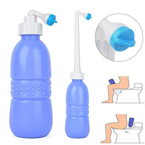 MezoJaoie 650ML Tragbares Reise-Bidet, persönliches Bidet-Sprühgerät Handheld-persönliches Bidet-Reise-Bidet-Flasche für Kinder Arsch waschen, Schwangere reinigen