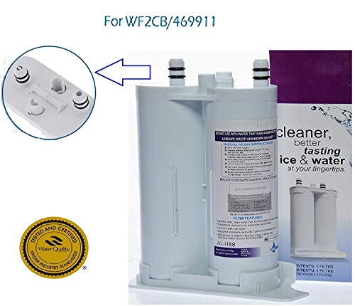 Aqualutio Water Filter, Compatible with Frigidaire WF2CB / FC100 / NGFC 2000 PureSource 2 Refrigerator Ice & Water Filter, EWF2CBPA, Kenmore: 46-9911 Compatible Replacement Filtration System 1 Pack