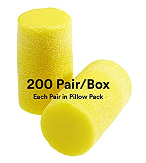 3M Ear Plugs, 200 Pairs/Box, E-A-R Classic Plus 310-1101, Uncorded, Disposable, Foam, NRR 33, For Drilling, Grinding, Machining, Sawing, Sanding, Welding, Slightly Longer Ear Plug, 1 Pair/Pillow Pack (B008MCTOPU) | Amazon price tracker / tracking, Amazon price history charts, Amazon price watches, Amazon price drop alerts