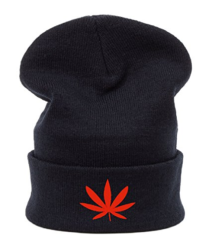 Beanie hat Bonnet Fashion Jersay Oversize Bad Hair Day Fresh Gunja Weed Leaf