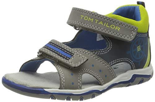 Tom Tailor Baby-Jungen 1173801 Sandale, Grey-Navy-Lime, 24 EU