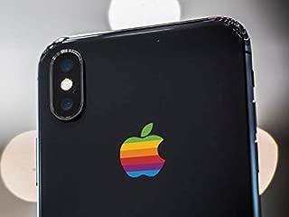 Retro Apple Logo Decal Sticker for iPhone X, iPhone 7 Plus, iPhone 8 Plus