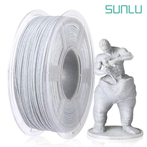 SUNLU Marble PLA 3D Printer Filament, 3D Printing PLA Filament 1.75mm, 1kg(2.2LBS) Spool, Marble Color