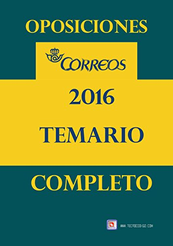 Oposiciones Correos 2016: Temario Completo