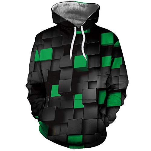 ADXD hoodie jack met capuchon heren zwart 3D-print oversize fluwelen voering tas lange mouwen coats herfst winter mode pullover outdoor trekking party