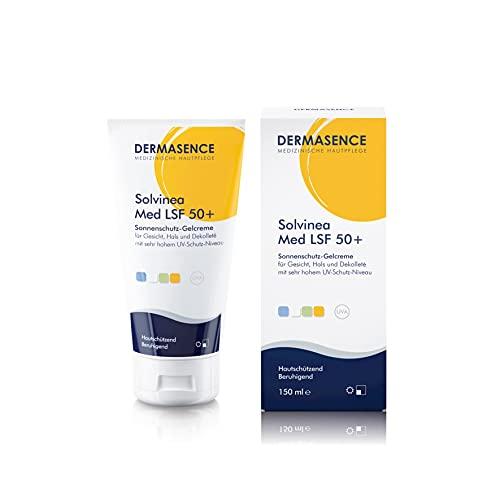 DERMASENCE Solvinea Med LSF 50+ - Intensiver Sonnenschutz mit sehr hohem UV-Filter, als Make-up-Unterlage geeignet, 150 ml