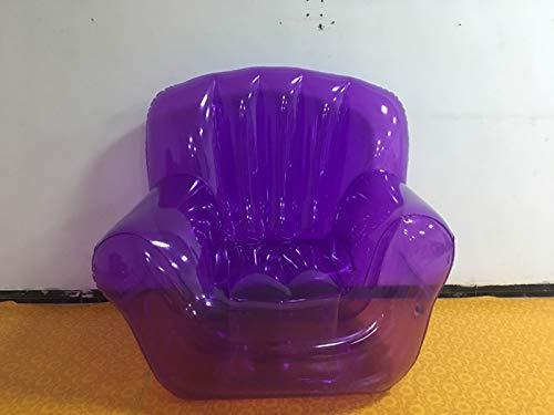 LQYHocker Aufblasbares Stuhl-Sofa/faule transparente, tragbare Kissen Hocker/tragbares einzelnes aufblasbares Sofa im Freien, lila Sofa Reparaturset