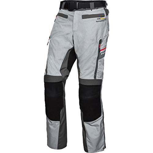 FLM Motorradhose Touren Leder-/Textilhose 4.0 grau/schwarz 4XL, Herren, Tourer, Ganzjährig