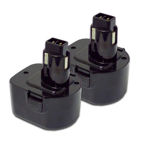 Maximalpower Dewalt Ni-Cd Batterie de rechange et chargeur pour et plus d'outils Dewalt, PTB DEW12 X2P