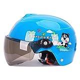オートバイの子供用ヘルメット (青いドラえもん, 黄褐色の長いレンズ)