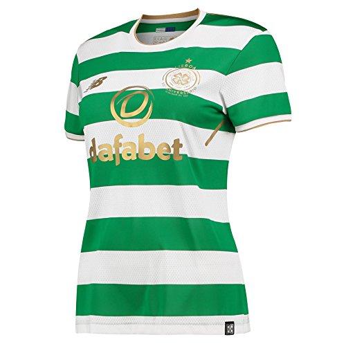 New Balance Celtic FC 2017/18 Mujer Local Camiseta Blanca/Verde BAJO Pedido - Blanco, 12