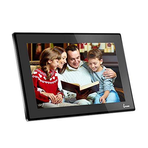 BSIMB 15.6 Inch WiFi Digital Photo Frame Digital Picture Frame Full HD 1920x1080 IPS Touch Screen 8GB Storage Support Smartphone App Twitter Facebook Email(W02) Black