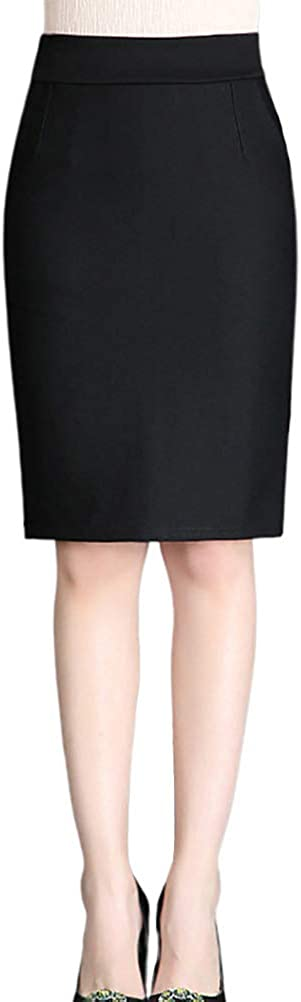 Nanxson Women' Elastic High Waist Slim Skirts Wear to Work Bodycon Pencil Skirt Midi Skirt CFW2011