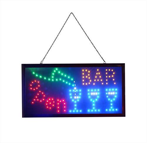 BAR Elektronisches LED-Schild - das originale intelligente leuchtende LED-Schild für professionelle, leistungsstarke, animierte, blinkende Anzeigeschilder B07
