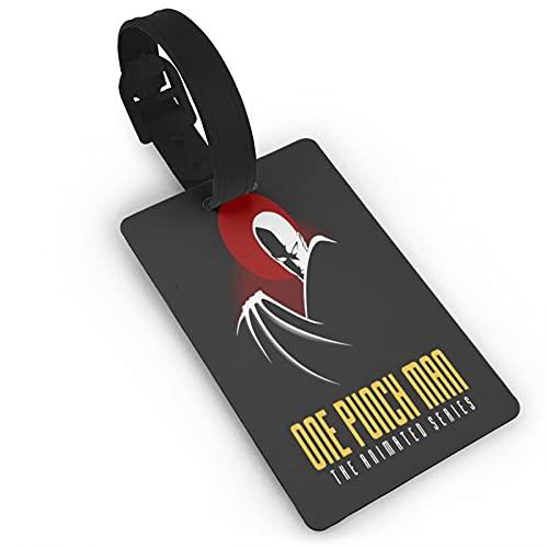 One Punch Man Series Etichette per bagagli Unisex Valigia Etichette per Bagagli Tag Id Tag con Posteriore Completa Copertura Privacy per Navi da Crociera Accessori Da Viaggio Tag